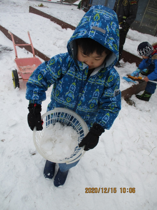 保護中: 雪遊び楽しんでます!